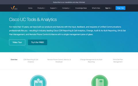 Screenshot of Products Page variphy.com - Cisco UC Tools & Analytics | Variphy Cisco CDR Reporting - captured Oct. 19, 2017