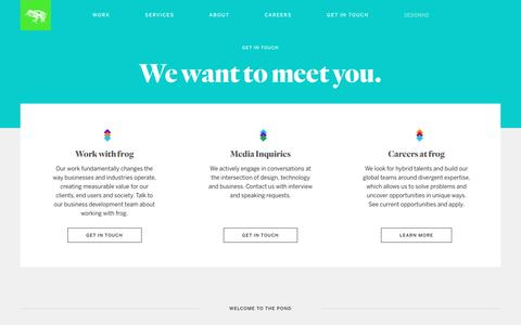 Contact Us | frog
