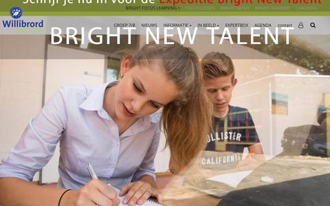 Screenshot of Home Page willibrordgymnasium.nl - Willibrord Gymnasium   Bright new talent - captured Oct. 18, 2018