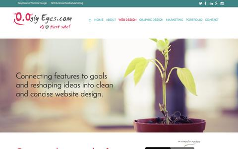 Screenshot of About Page ooglyeyes.com - Responsive Website Design | OOgly Eyes Designs, Responsive Website Design, Programming, SEO | Amanda Calderon & Nicola Hebert, Pensacola, FL | Custom Website Design | High Quality Web Design | SEO Web Designers | Web Page Design Pricing | Web Site De - captured Feb. 16, 2016