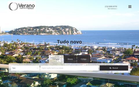 Screenshot of Home Page veranoimoveis.com - Verano Negócios Imobiliários - captured Oct. 19, 2018