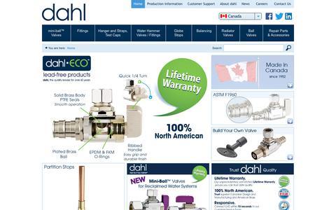 Screenshot of Home Page dahlvalve.com - Home   Dahl Valve Limited - captured Oct. 25, 2018