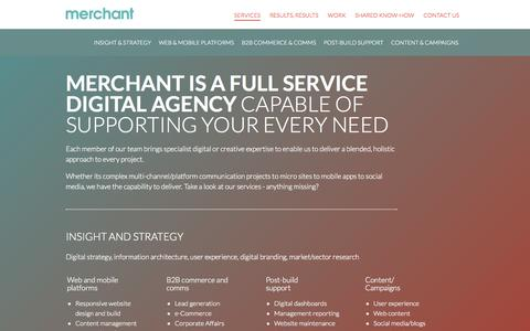Screenshot of Services Page merchantmarketinggroup.com - Services | Merchant Marketing Group - captured Sept. 30, 2014