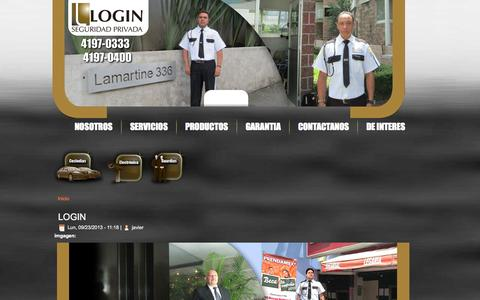 Screenshot of Login Page login.com.mx - LOGIN | www.login.com.mx - captured Oct. 1, 2014