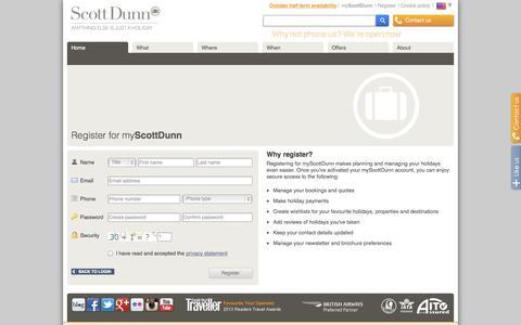 Screenshot of Signup Page scottdunn.com - Signup - captured Sept. 24, 2014