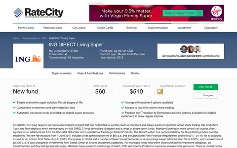 ING DIRECT Living Super | Superannuation | RateCity.com.au