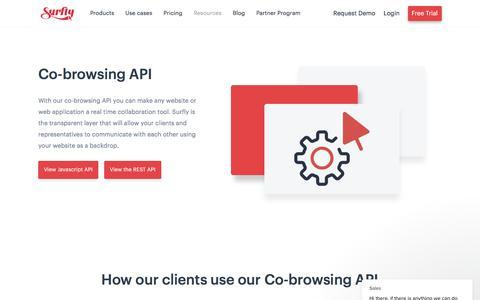 Screenshot of Developers Page surfly.com - Sales says… - captured Jan. 3, 2020