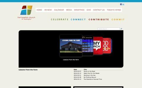 Screenshot of Press Page fbcmw.org - sermon central | FBC Mt Washington - captured June 24, 2016