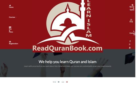 Screenshot of Blog readquranbook.com - Blog - Online Quran Teaching Academy Tutors, Quran Reading Classes, Courses - captured Feb. 14, 2016