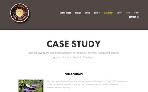 Screenshot of Case Studies Page h3-digital.com - Case Study — H3 Digital - Smart Homes: Cinema, Audio & Lights - captured May 11, 2017