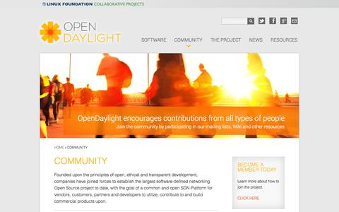 Screenshot of Developers Page opendaylight.org - Community | OpenDaylight - captured Sept. 19, 2014