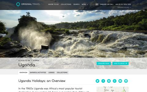 Luxury Holidays Uganda | Amazing Safari Holidays