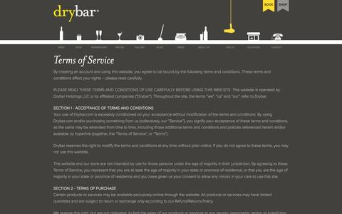 Screenshot of Terms Page thedrybar.com - Must-Have: The Four Pack - captured Nov. 9, 2015