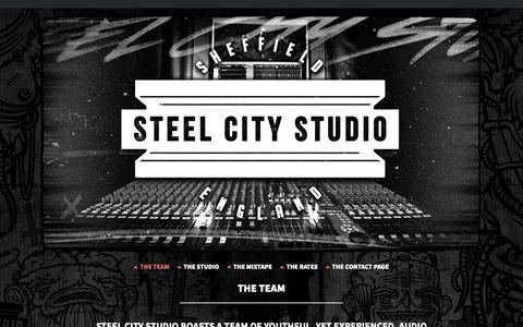 Screenshot of Team Page steelcitystudio.co.uk - Music Producers | The Team | Steel City Studio - captured Oct. 20, 2018