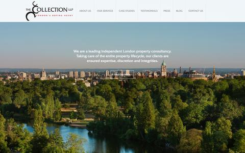 Screenshot of Home Page thecollectionllp.com - The Collection LLP   Property Acquisition The Collection LLP - captured Aug. 14, 2015