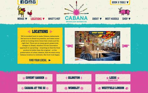 Screenshot of Locations Page cabana-brasil.com - Cabana | Locations - captured Oct. 31, 2014