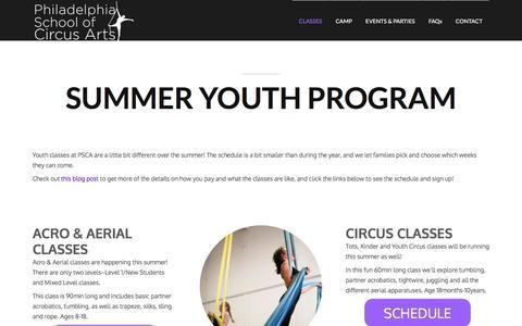 Philadelphia School of Circus Arts |  » Summer Youth Program