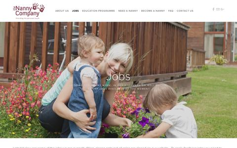 Screenshot of Jobs Page thenannycompany.co.nz - Jobs — The Nanny Company - captured Nov. 16, 2018