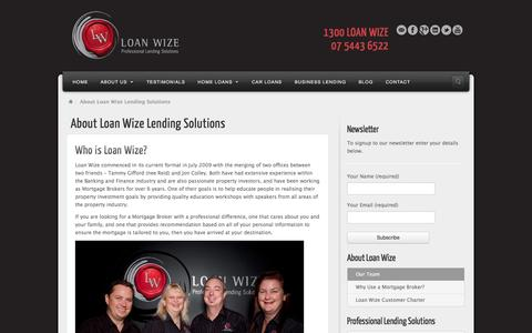 Screenshot of About Page Team Page loanwize.com.au - About Loan Wize Lending Solutions   Loan Wize - Professional Lending Solutions - captured Oct. 23, 2014