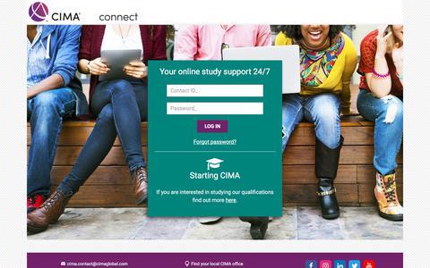 Screenshot of Login Page cimaglobal.com - | CIMAconnect - captured Feb. 19, 2018