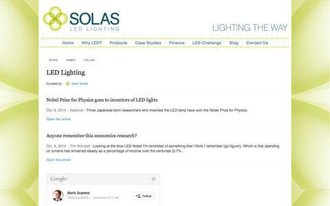 Screenshot of Blog solasled.co.uk - Solas LED - Blog - captured Oct. 9, 2014