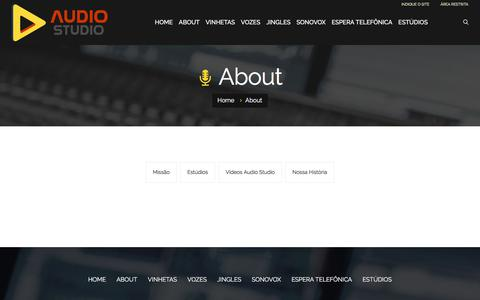 Screenshot of About Page audiostudio.com.br - About - captured July 11, 2018
