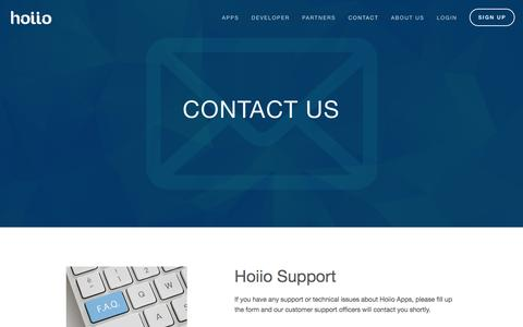 Screenshot of Support Page hoiio.com - Support — Hoiio - captured Jan. 30, 2016