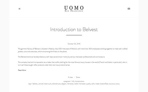 Blog — Uomo San Francisco | Designer European Luxury Menswear and Accessories