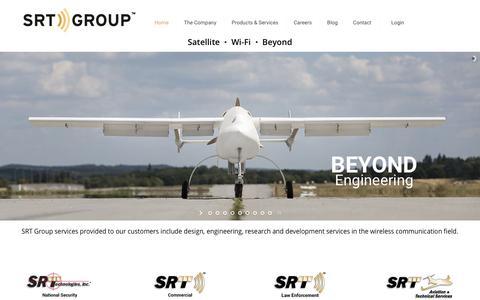 Screenshot of Home Page srtgrp.com - SRT Group, Inc. - captured Dec. 16, 2015