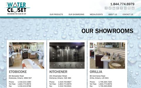 Screenshot of Locations Page watercloset.ca - The Water Closet - Enhancing the Flow of Life - captured Nov. 1, 2014
