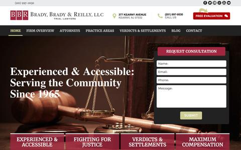 Screenshot of Home Page bbr-law.com - Kearny Personal Injury Attorney | Medical Malpractice Lawyer In Newark | - captured Feb. 8, 2016
