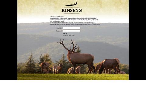 Screenshot of Login Page kinseysinc.com captured Sept. 30, 2014