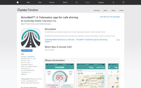 DriveWell™: A Telematics app for safe driving on the App Store