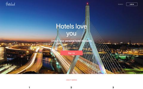 Screenshot of Home Page hotelied.com - Hotelied - captured Dec. 28, 2015