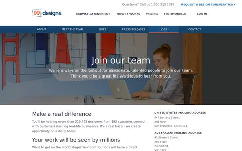 Screenshot of Jobs Page 99designs.com - Jobs | 99designs - captured July 19, 2014