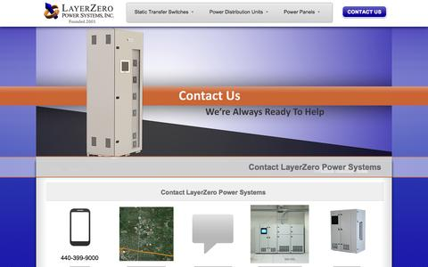 Screenshot of Contact Page layerzero.com - Contact LayerZero - Sales Inquiries - LayerZero Power Systems, Inc. - captured Oct. 2, 2014