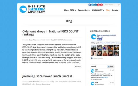 Screenshot of Blog oica.org - Blog Archives - OICA - Oklahoma Institute for Children Advocacy | OICA - Oklahoma Institute for Children Advocacy - captured Oct. 26, 2014