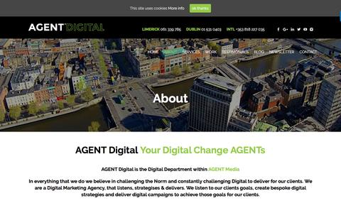 Screenshot of About Page agent.media - Digital Agency Dublin | Digital Marketing Companies Dublin - captured May 23, 2017