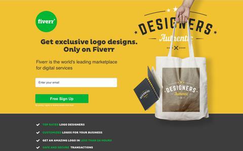 Screenshot of Landing Page fiverr.com - Fiverr - Professional Logo Designers starting at $5! - captured Sept. 21, 2018