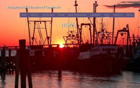 Screenshot of Press Page hamptonbayschamber.com - News – Hampton Bays Chamber of Commerce - captured July 2, 2018