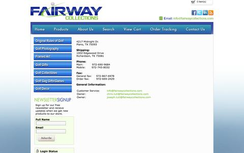 Screenshot of Contact Page fairwaycollections.com - Contact Fairway Collections - captured Oct. 5, 2014