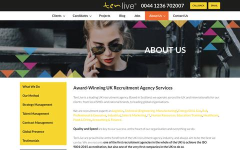 Screenshot of About Page tenlivegroup.com - Recruitment Consultant & Resource Management Services - captured June 13, 2017