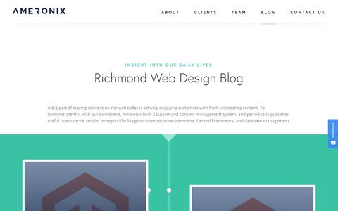 Screenshot of Blog ameronix.com - Curious About Web Development? Check Out Our Blog   Insight Into Our Daily Lives   Ameronix - captured Oct. 3, 2018