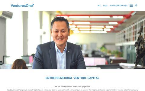 Screenshot of Home Page venturesone.com - HOME - VenturesOne - captured July 13, 2018