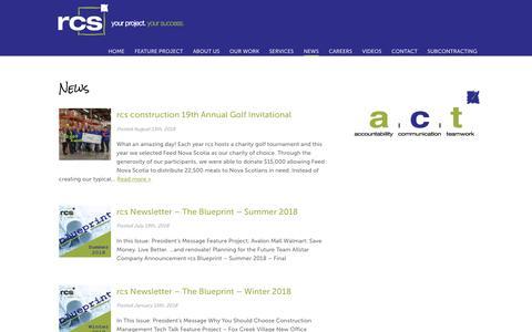 Screenshot of Press Page rcsinc.ca - rcs construction 19th Annual Golf Invitational - captured Oct. 18, 2018