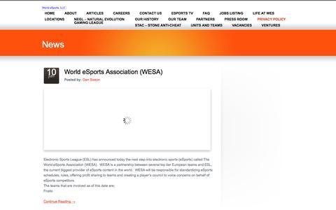 Privacy Policy «  World eSports, LLC