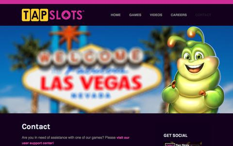 Screenshot of Contact Page tapslots.com - Contact - Tap Slots | Developer of social casino games on mobile devices. - captured Dec. 11, 2019