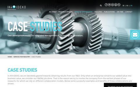 Screenshot of Case Studies Page ideko.es - Case Studies | IK4-IDEKO - captured Oct. 1, 2018