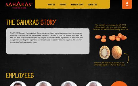 Screenshot of About Page saharas.com - SAHARAS |  About Us - captured Dec. 19, 2015