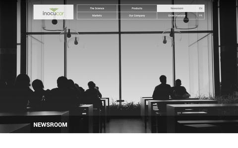 Screenshot of Press Page inocucor.com - Newsroom, Media & Press Releases | Inocucor Technologies - captured Oct. 29, 2014